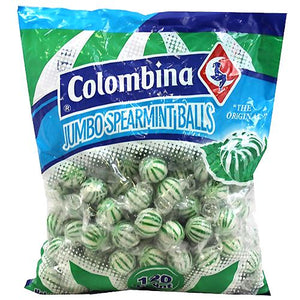 All City Candy Colombina Jumbo Spearmint Balls Hard Candy - Bag of 120 Hard Colombina For fresh candy and great service, visit www.allcitycandy.com