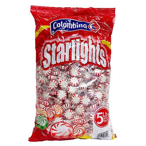 All City Candy Colombina Peppermint Starlights Mints Hard Candy - 5 LB Bulk Bag Bulk Wrapped Colombina For fresh candy and great service, visit www.allcitycandy.com