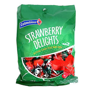 All City Candy Colombina Strawberry Delights Filled Hard Candy - 7-oz. Bag Hard Colombina For fresh candy and great service, visit www.allcitycandy.com