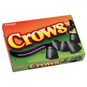 All City Candy Crows Licorice Flavored Gumdrops - 6.5-oz. Theater Box Theater Boxes Tootsie Roll Industries 1 Box For fresh candy and great service, visit www.allcitycandy.com