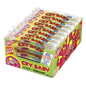 All City Candy Cry Baby Extra Sour Bubble Gumball Tubes Gum/Bubble Gum Concord Confections (Tootsie) Case of 36 4-Piece Tubes For fresh candy and great service, visit www.allcitycandy.com