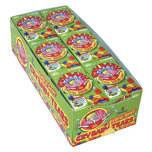 All City Candy Cry Baby Tears Extra Sour Candy - 1.98-oz. Box Sour Concord Confections (Tootsie) Case of 24 For fresh candy and great service, visit www.allcitycandy.com