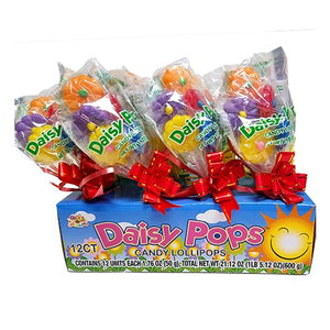 All City Candy Daisy Pops Candy Lollipops 1.76 oz. Lollipops & Suckers Albert's Candy Case of 12 For fresh candy and great service, visit www.allcitycandy.com
