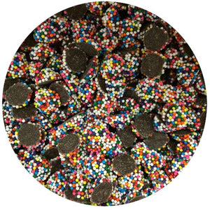 All City Candy Dark Chocolate Mini Rainbow Nonpareils - 3 LB Bulk Bag Bulk Unwrapped Kargher Chocolates Default Title For fresh candy and great service, visit www.allcitycandy.com