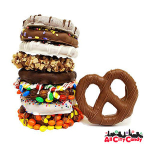 All City Candy Delectable Dozen Gourmet Chocolate Covered Pretzel Twists Gift Box Pretzalicious All City Candy For fresh candy and great service, visit www.allcitycandy.com