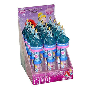 All City Candy Disney Princess Cinderella Light & Sound Wand Candy Toy Novelty Candyrific Case of 12 For fresh candy and great service, visit www.allcitycandy.com
