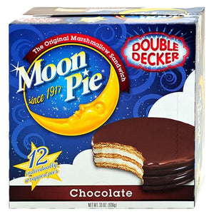 All City Candy Double Decker Chocolate MoonPie 2.75 oz. Candy Bars Chattanooga Bakery (MoonPies) Case of 12 For fresh candy and great service, visit www.allcitycandy.com