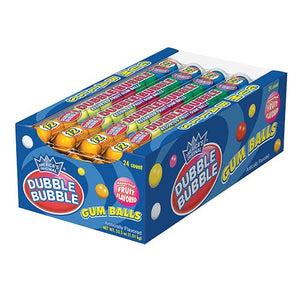All City Candy Dubble Bubble Assorted Fruit Flavored Gumballs 12-Ball Tube Gum/Bubble Gum Concord Confections (Tootsie) Case of 24 For fresh candy and great service, visit www.allcitycandy.com