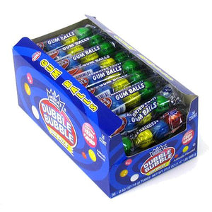 All City Candy Dubble Bubble Assorted Fruit Flavored Gumballs 4-Ball Tube - 36 Piece Case Gum/Bubble Gum Concord Confections (Tootsie) Default Title For fresh candy and great service, visit www.allcitycandy.com