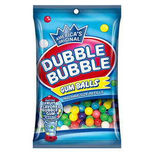 All City Candy Dubble Bubble Assorted Gumballs Machine Size Refills Gum/Bubble Gum Concord Confections (Tootsie) Case of 12 5-oz. Bags For fresh candy and great service, visit www.allcitycandy.com