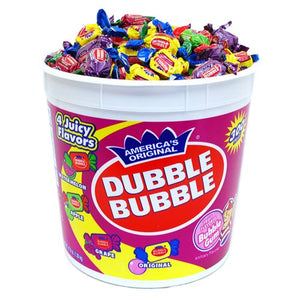 All City Candy Dubble Bubble Assorted Twist Bubble Gum - 300-Piece Tub Gum/Bubble Gum Concord Confections (Tootsie) For fresh candy and great service, visit www.allcitycandy.com