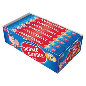 All City Candy Dubble Bubble Bubble Gum 3-oz. Big Bar Gum/Bubble Gum Concord Confections (Tootsie) Case of 24 For fresh candy and great service, visit www.allcitycandy.com
