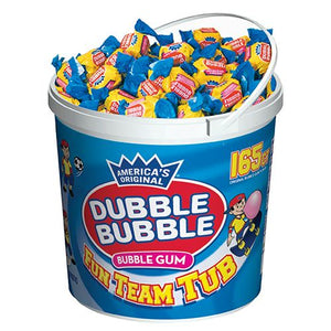 All City Candy Dubble Bubble Bubble Gum Fun Team Tub - 165-Piece Tub Gum/Bubble Gum Concord Confections (Tootsie) Default Title For fresh candy and great service, visit www.allcitycandy.com