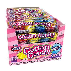 All City Candy Dubble Bubble Cotton Candy Bubble Gum Gumballs 4-Ball Tube - 36 Piece Case Gum/Bubble Gum Concord Confections (Tootsie) Default Title For fresh candy and great service, visit www.allcitycandy.com
