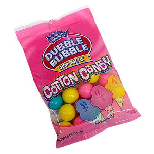 All City Candy Dubble Bubble Cotton Candy Gumballs - 4-oz. Bag Gum/Bubble Gum Concord Confections (Tootsie) Default Title For fresh candy and great service, visit www.allcitycandy.com
