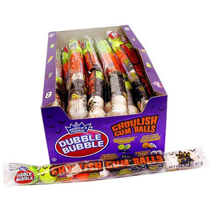 All City Candy Dubble Bubble Ghoulish Gumballs - 10 Ball Tube Halloween Concord Confections (Tootsie) Case of 24 For fresh candy and great service, visit www.allcitycandy.com