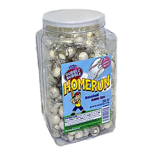 All City Candy Dubble Bubble Home Run Baseball Bubble Gum - 240 Piece Tub Gum/Bubble Gum Concord Confections (Tootsie) Default Title For fresh candy and great service, visit www.allcitycandy.com