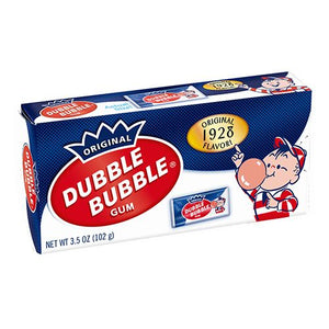 All City Candy Dubble Bubble Original Bubble Gum - 3.5-oz. Theater Box Gum/Bubble Gum Concord Confections (Tootsie) 1 Box For fresh candy and great service, visit www.allcitycandy.com