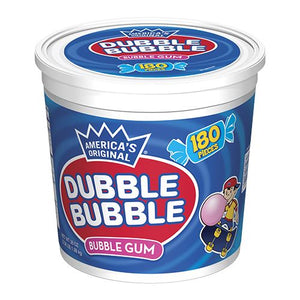 All City Candy Dubble Bubble Original Twist Bubble Gum Tubs Gum/Bubble Gum Concord Confections (Tootsie) 180-Piece Tub For fresh candy and great service, visit www.allcitycandy.com