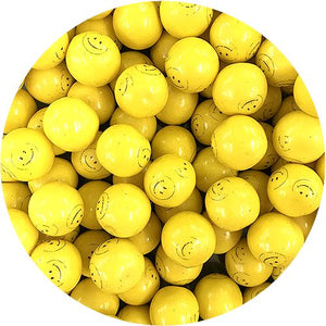 All City Candy Dubble Bubble Smiley Face Gumballs - 3 LB Bulk Bag Gum/Bubble Gum Concord Confections (Tootsie) For fresh candy and great service, visit www.allcitycandy.com