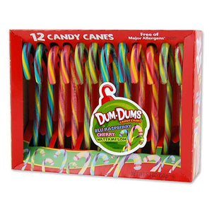 All City Candy Dum Dums Candy Canes - Box of 12 christmas Spangler For fresh candy and great service, visit www.allcitycandy.com