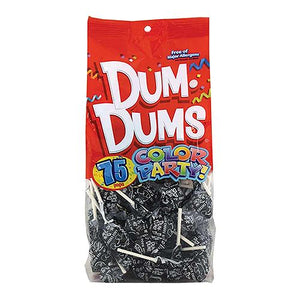 All City Candy Dum Dums Color Party Black Black Cherry Lollipops - Bag of 75 Lollipops & Suckers Spangler For fresh candy and great service, visit www.allcitycandy.com