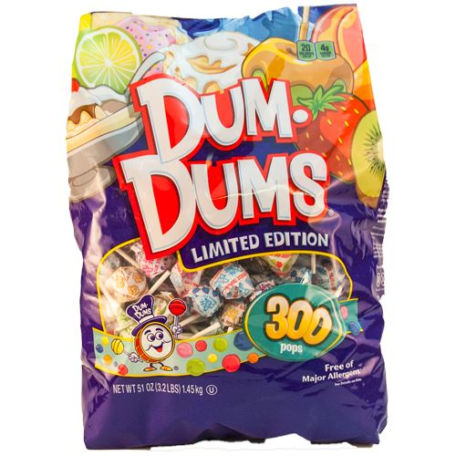 Dum Dums Limited Edition Assorted Flavor Lollipops - Bag of 300