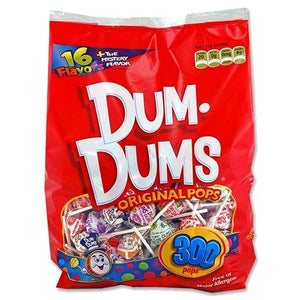 All City Candy Dum Dums Original Lollipops - Bulk Lollipops & Suckers Spangler Bag of 300 For fresh candy and great service, visit www.allcitycandy.com