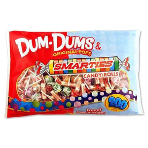 All City Candy Dum Dums Original Pops & Smarties Candy Mix - 200 Piece Bag Bulk Wrapped Spangler Default Title For fresh candy and great service, visit www.allcitycandy.com