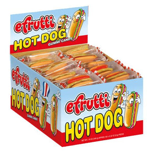 All City Candy efrutti Gummi Hot Dog - Case of 60 Gummi efrutti Default Title For fresh candy and great service, visit www.allcitycandy.com