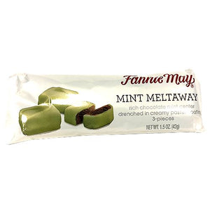 All City Candy Fannie May Mint Meltaway 3 Piece Bar 1.5 oz. Chocolate Fannie May For fresh candy and great service, visit www.allcitycandy.com