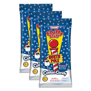 All City Candy Fluffy Stuff North Pole Cotton Candy - 2-oz. Bag Christmas Charms Candy (Tootsie) Pack of 3 For fresh candy and great service, visit www.allcitycandy.com