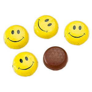 All City Candy Foiled Solid Milk Chocolate Smiley Face Disc - 3 LB Bulk Bag SweetWorks Default Title For fresh candy and great service, visit www.allcitycandy.com