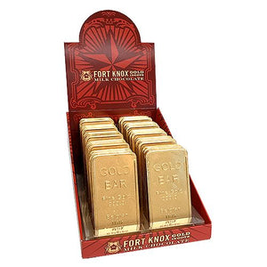 All City Candy Fort Knox Belgian Milk Chocolate Gold Ingots 1 oz. Chocolate Gerrit J. Verburg Candy Case of 40 For fresh candy and great service, visit www.allcitycandy.com