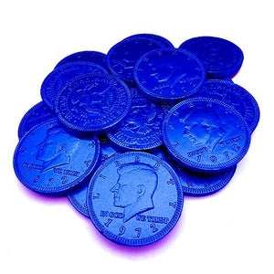 All City Candy Fort Knox Dark Blue Milk Chocolate Coins - 1 LB Mesh Bag Chocolate Gerrit J. Verburg Candy Default Title For fresh candy and great service, visit www.allcitycandy.com