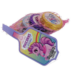 All City Candy Fort Knox Unicorn Milk Chocolate Coins and Stickers - 1.47-oz. Mesh Bag Chocolate Gerrit J. Verburg Candy For fresh candy and great service, visit www.allcitycandy.com
