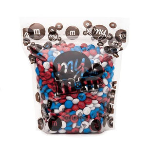 All City Candy Freedom Blend Red, White & Blue M&M's Chocolate Candy - 2 LB Bulk Bag Bulk Unwrapped Mars Chocolate For fresh candy and great service, visit www.allcitycandy.com