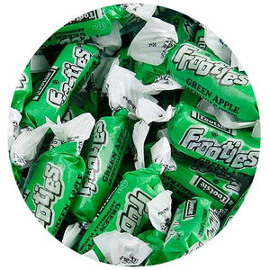 All City Candy Frooties Green Apple Chewy Candy - 2.42 LB Bulk Bag Bulk Wrapped Tootsie Roll Industries For fresh candy and great service, visit www.allcitycandy.com
