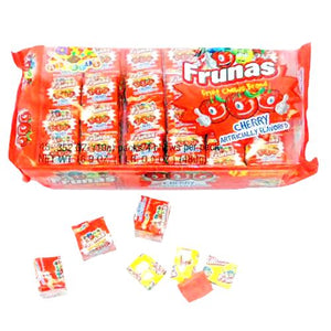 All City Candy Frunas Cherry Fruit Chews - Pack of 48 Chewy Albert's Candy Default Title For fresh candy and great service, visit www.allcitycandy.com