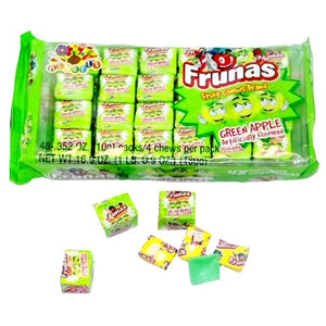 All City Candy Frunas Green Apple Fruit Chews - Pack of 48 Chewy Albert's Candy Default Title For fresh candy and great service, visit www.allcitycandy.com