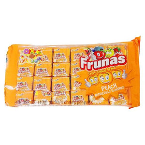 All City Candy Frunas Peach Fruit Chews - Pack of 48 Chewy Albert's Candy Default Title For fresh candy and great service, visit www.allcitycandy.com