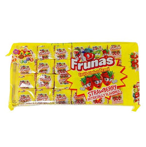 All City Candy Frunas Strawberry Fruit Chews - Pack of 48 Chewy Albert's Candy Default Title For fresh candy and great service, visit www.allcitycandy.com