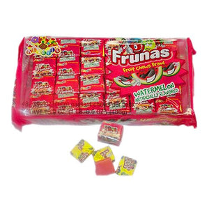 All City Candy Frunas Watermelon Fruit Chews - Pack of 48 Chewy Albert's Candy Default Title For fresh candy and great service, visit www.allcitycandy.com
