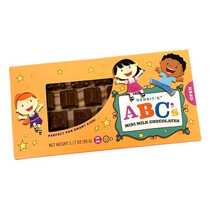 All City Candy Gerrit's ABC's Mini Milk Chocolates - 3.17-oz. Box Chocolate Gerrit J. Verburg Candy For fresh candy and great service, visit www.allcitycandy.com