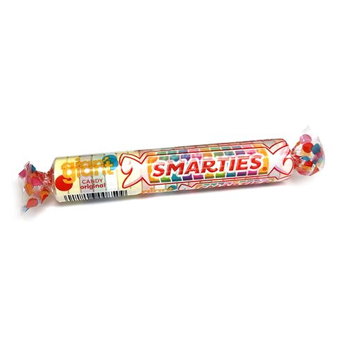 Giant Smarties Candy Roll 1 oz  - Case of 34