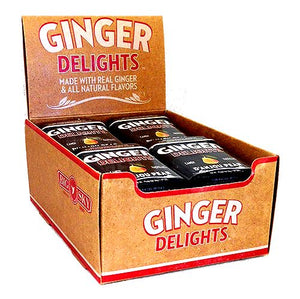 All City Candy Ginger Delights D'Anjou Pear Hard Candy - 1.07-oz. Tin Hard Big Sky Brands Case of 12 For fresh candy and great service, visit www.allcitycandy.com