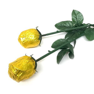 All City Candy Gold Foiled Belgian Chocolate Color Splash Roses Chocolate Albert's Candy 1 Piece For fresh candy and great service, visit www.allcitycandy.com