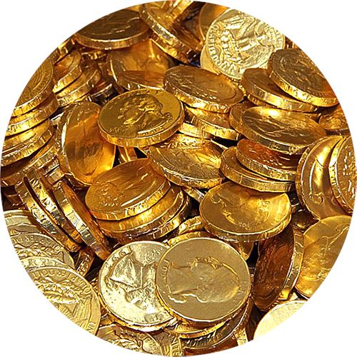 Chocolate Coin Stock Photos and Pictures | Getty Images