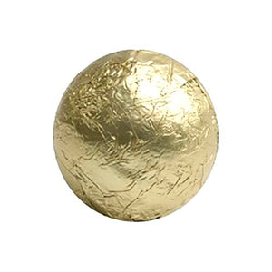 All City Candy Gold Foiled Solid Milk Chocolate Balls - 2 LB Bulk Bag Bulk Wrapped SweetWorks For fresh candy and great service, visit www.allcitycandy.com