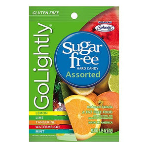 All City Candy GoLightly Sugar Free Assorted Fruit Hard Candy - 2.75-oz. Bag Hard Hillside Candy Default Title For fresh candy and great service, visit www.allcitycandy.com
